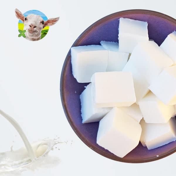Gietzeep - Wit - Geitenmelk zeep
