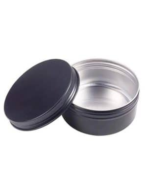 Black tin of Aluminum 50 grams