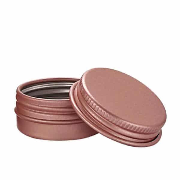 Pink tin of Aluminum 50 grams