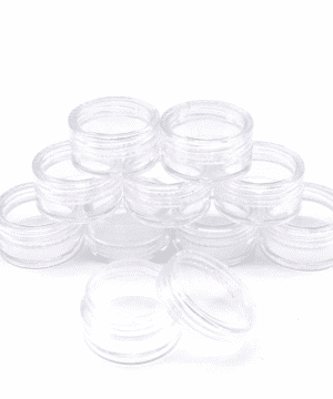 Lip balm jar transparent