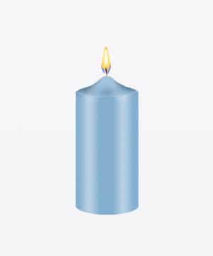 Tinte azul para velas