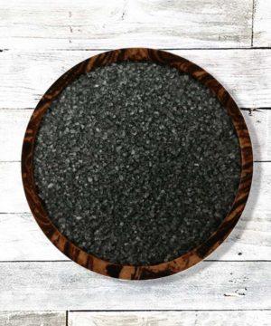 Lava salina hawaiana negra 1-2 mm